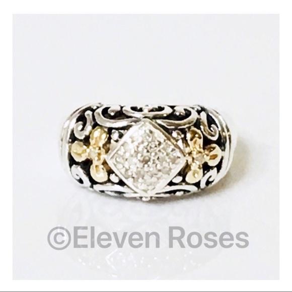 a5ce963f6 Gabrielle Bruni Jewelry - Gabrielle Bruni Sterling & 14k Gold Diamond Ring